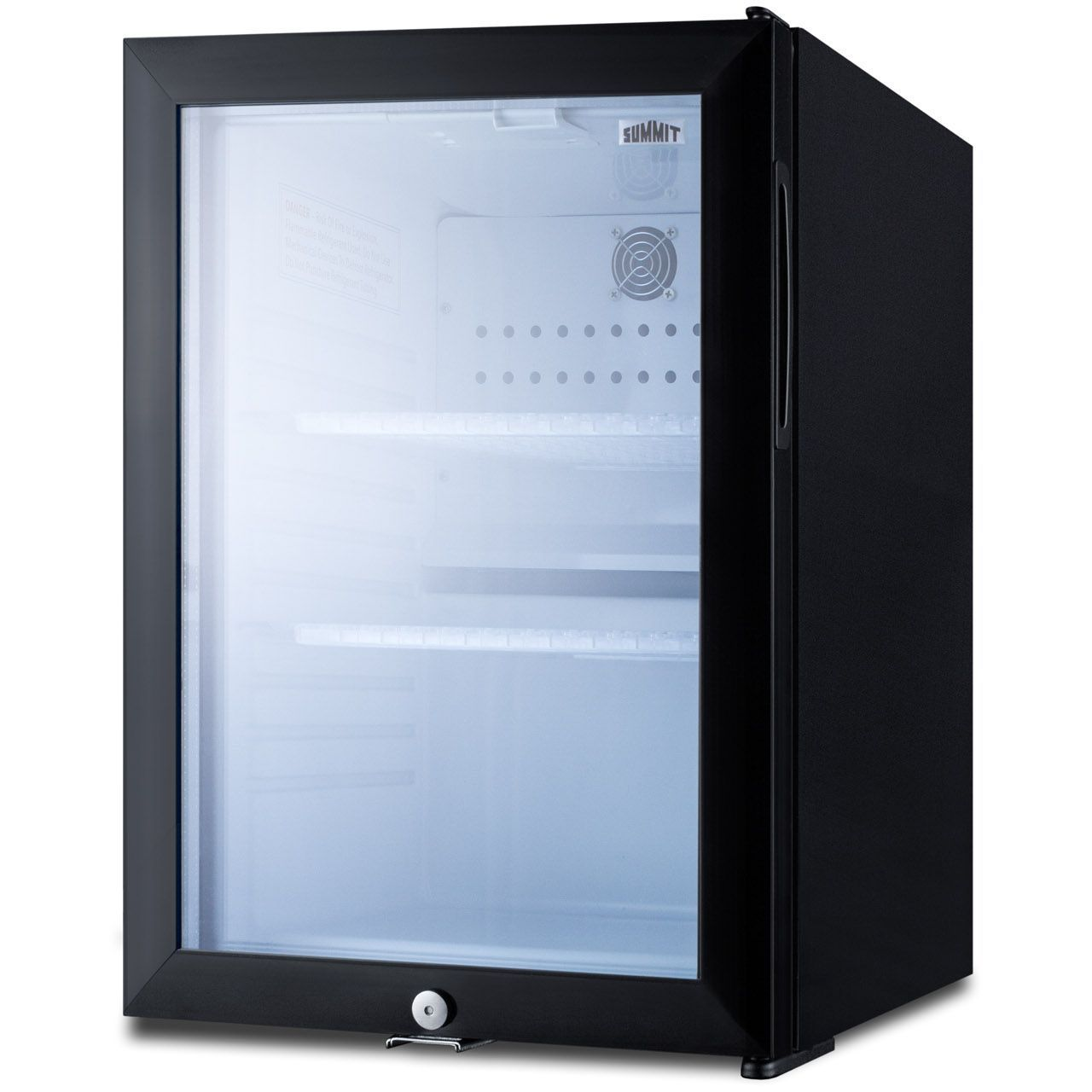 Summit MB27G 1.2 Cu Ft Black Compact Minibar - Glass Door