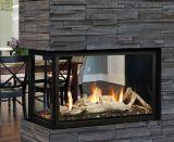 DV MV Peninsula Fireplace w/Glass Tray, Logs & Glass Media - NG
