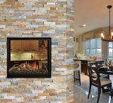 DV IPI SEE-THRU Fireplace w/Glass Tray, Logs & Glass Media - LP