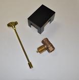 HPC Straight 8 Inch Brass Key Valve Kit - Natural Gas