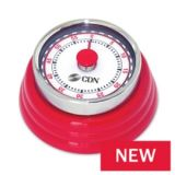 CDN MT4-R Compact Mechanical Timer - Red
