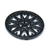 "C33BK- 7"" Sunburst - Cast Iron Trivet"
