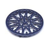 "C33BL- 7"" Sunburst - Cast Iron Trivet"