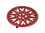 "C33R- 7"" Sunburst - Cast Iron Trivet"