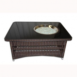 Outdoor GreatRoom Naples Rectangular Gas Fire Pit Table