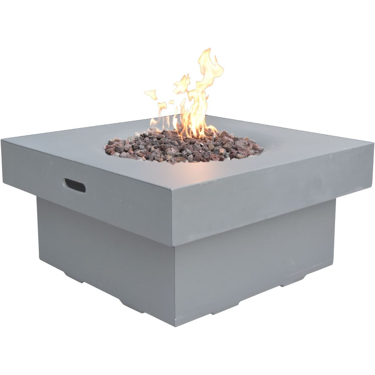 Modeno OFG141LG-NG Brandford Fire Table in Light  Gray - Natural Gas