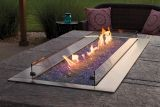 "Empire OL60TP18 Outdoor Linear 60"" SS Fire Pit with LED Lighting - LP"