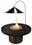"""47"""" Round Black Cone Fire Pit Cover and Heat Reflector"""