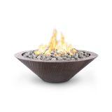 48'' Cazo Hammered Copper Match Lit LP Fire Pit - No Ledge