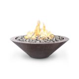 48'' Cazo Hammered Copper Electronic Ignition LP Fire Pit - No Ledge