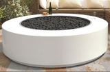 60'' x 18'' Unity Gray Powder Coat Electronic Ignition Fire Pit - NG
