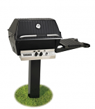 "Broilmaster Natural Gas Deluxe Grill Package with Stainless Steel Grids - 48"" In-Ground Post"