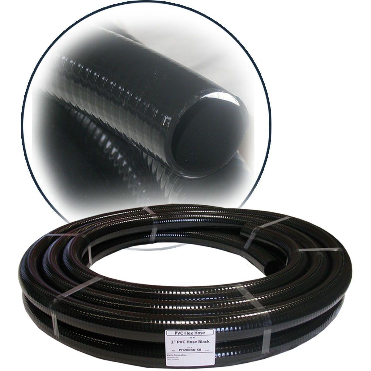 Alpine PH012BK Black PVC Hose - 1/2''  ID x 100'