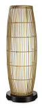 PatioGlo LED Bright White Floor Lamp with Natural Resin Bamboo Cover