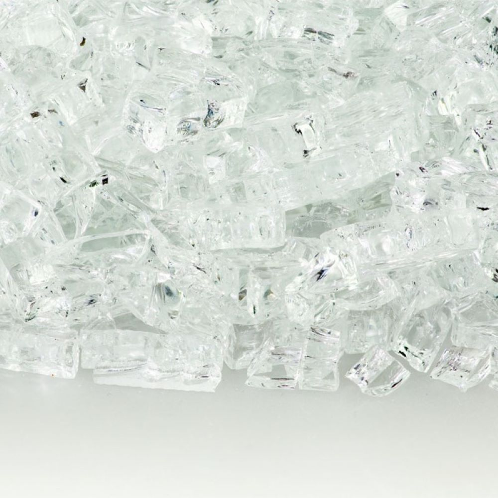 "Fireglass Plus 10 Lbs 1/4"" Fireglass - Crystal Ice"
