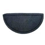 Gray Hand-Tufted 100% Wool Hearth Rug