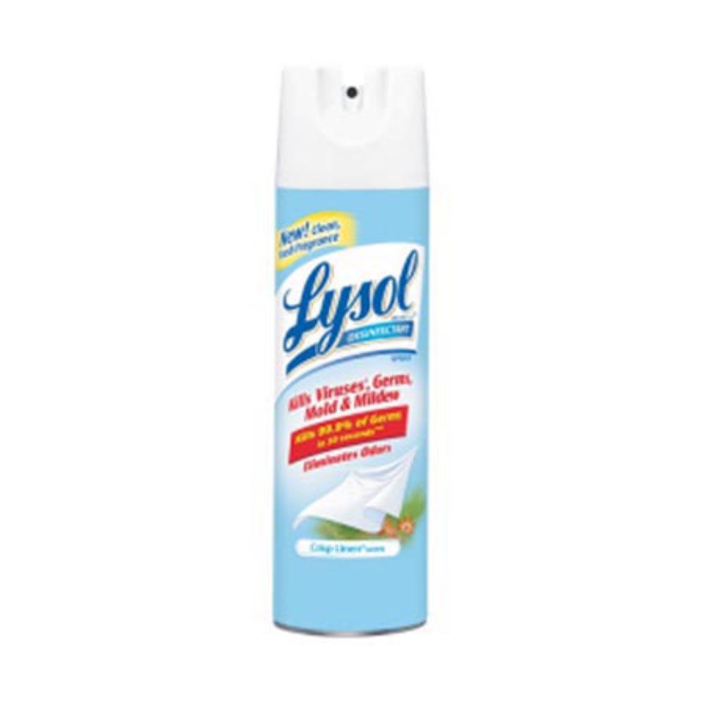 Reckitt Benckiser 19 oz Clean Linen Disinfectant Spray - 12 Packs