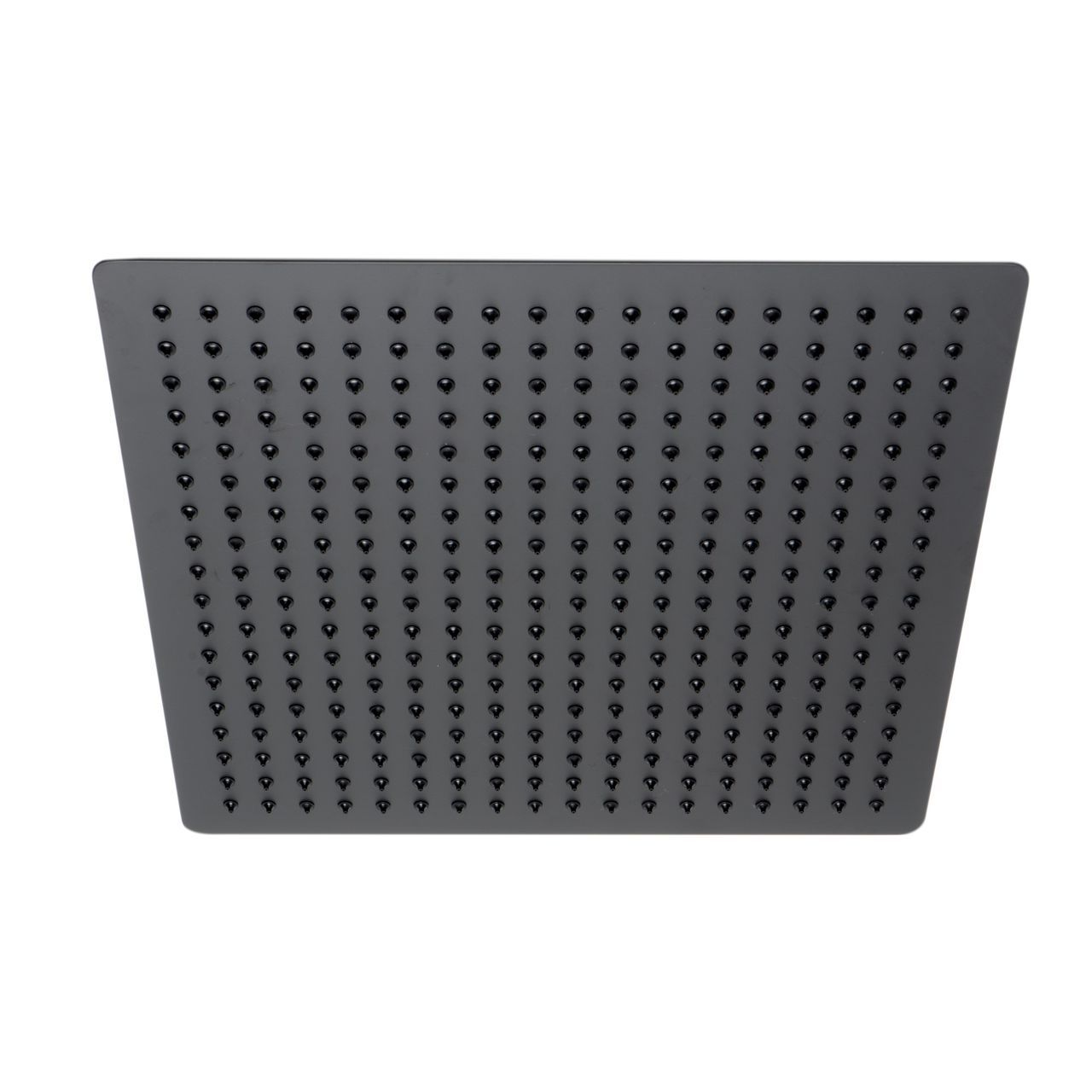 """ALFI 16"""" Square Black Matte Stainless Steel Ultra-Thin Shower Head"""
