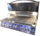 """RCS Gas Grills 40"""" Premier Grill with Blue LED and Rear Burner - NG"""