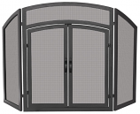 3 Fold Black Wrought Iron Arch Top W/ Doors