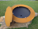 Saturn Fire Pit with Lid By Firepit Art