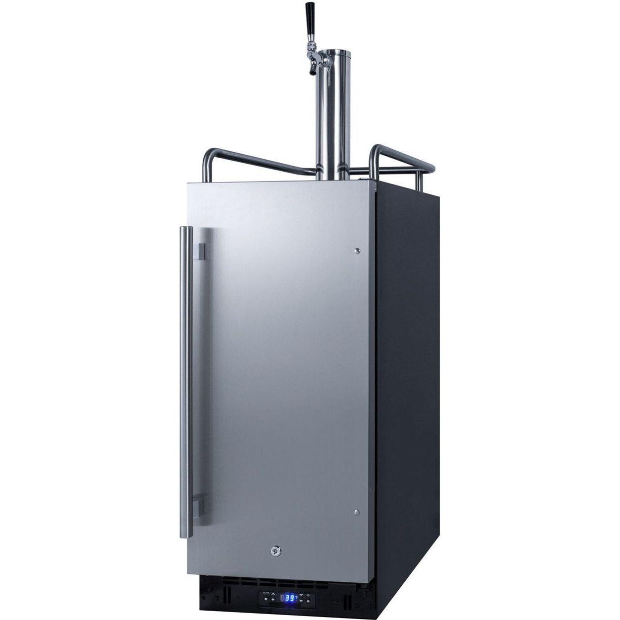 Summit SBC15WK 15''W Built-In Wine Kegerator - Black/S Steel