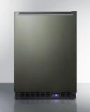 Summit SCFF53BXKSHH 24'' Wide Built-In All-Freezer - Black SS, Black