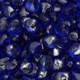 "10 lbs. Fire Diamond 1"" Cobalt Reflective Fire Glass"
