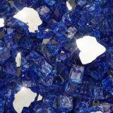 """10 lbs. Broken Style 1/2"""" Cobalt Reflective Fire Glass"""