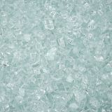 """10 lbs. Broken Style 1/2"""" Clear Non-Reflective Fire Glass"""