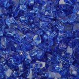 "10 lbs. Broken Style 1/4"" Cobalt Non-Reflective Fire Glass"