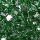 "10 lbs. Broken Style 1/4"" Emerald Reflective Fire Glass"