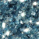 "10 lbs. Broken Style 1/4"" Pacific Blue Reflective Fire Glass"