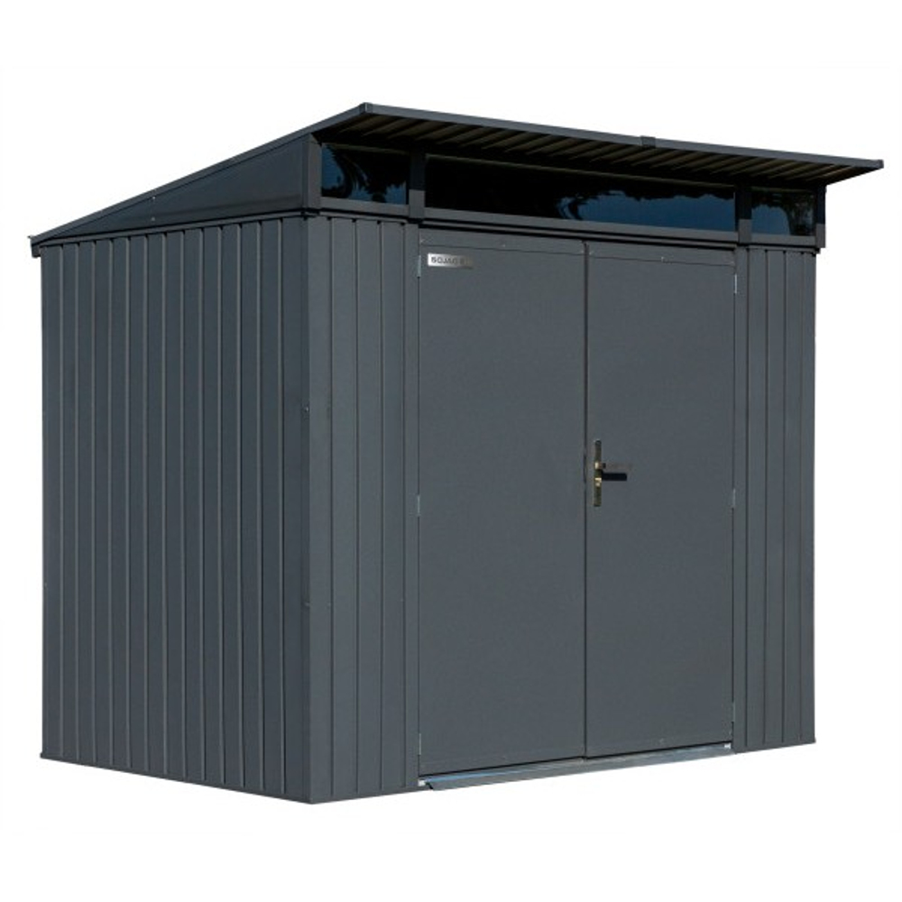 Sojag SJDEN85 Denali Steel Storage Shed in Anthracite - 8 x 5 ft