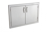 "33"" Stainless Steel Double Access Door w/ Masonry Frame Return"