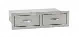 "Summerset 32"" North American Stainless Steel Double Horizontal Drawer"