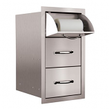 "17"" North American SS Vertical 2-Drawer & Paper Towel Holder Combo"