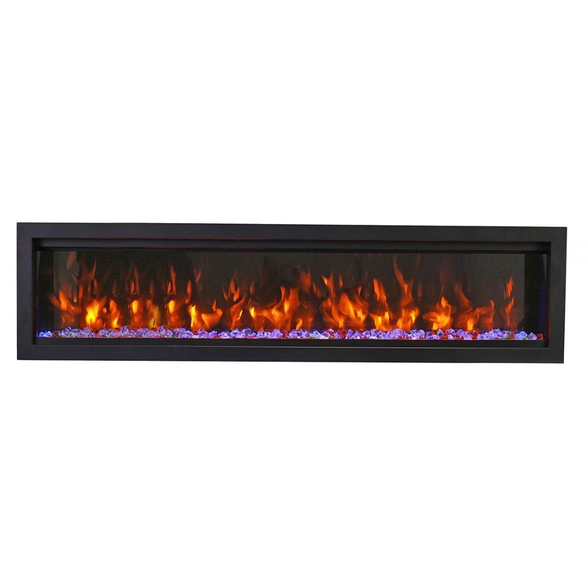 Amantii SYM-74 BESPOKE Symmetry Bespoke Electric Fireplace