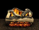 "24"" Salisbury Split Logs with Double Log Switch Pilot kit Burner Tube NG"