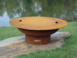 Saturn w/lid Match Lit Fire Pit with Stainless Steel Burner - NG