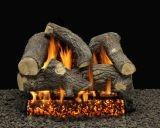 """24"""" Sumerset Blaze Logs w/Double Pilot kit Burner Tube & Remote - NG"""