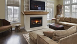 "Superior 33"" RNC Electronic Rear Vent Fireplace with Aged Oak Logs-NG"
