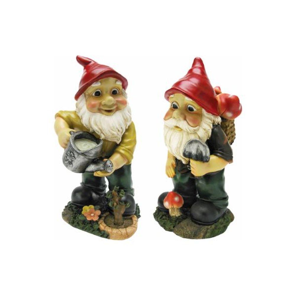 Design Toscano Gulliver and Mushroonie Garden Gnomes Statue