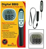 Boone Hearth Digital Food Thermometer / Kitchen Timer / Stopwatch / Clock