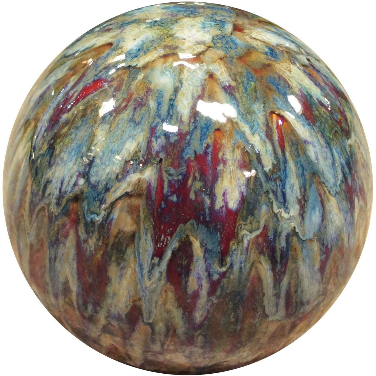 Alpine TOM252 Multi-Color Ceramic Gazing Globe