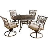 Traditions 5-Piece Dining Set w/4 Swivel Rockers and 48'' Round Table