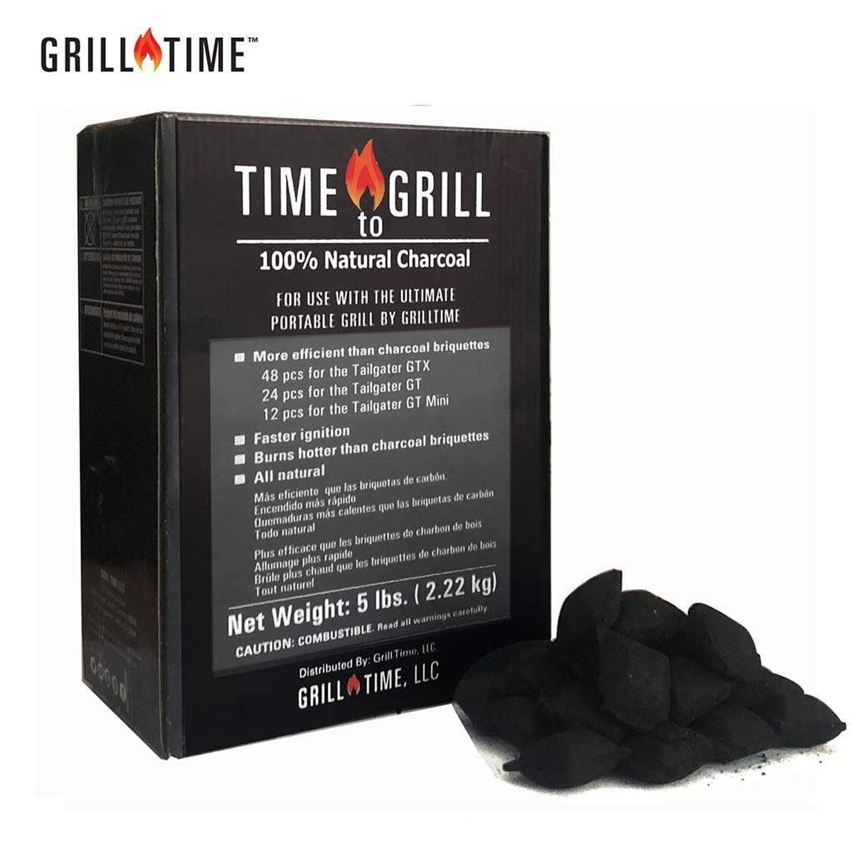 Grill Time 5lbs Time to Grill Natural Wood Charcoal