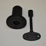 HPC 0.75 Inch Flat Black Angle Decorative Key Valve Kit