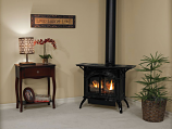 Empire VFD10CC30FP Heritage Cast Iron Matte Black VF Stove - LP