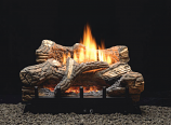 "Empire VFDT30LBN Thermostat 6-piece 30"" Ceramic Fiber Log Set - NG"